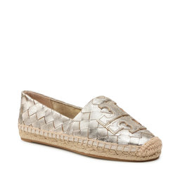 Tory Burch Еспадрильї Tory Burch Ines Woven Espadrille 83133 Spark Gold/Spark Gold 700