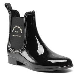 KARL LAGERFELD Guminiai batai KARL LAGERFELD KL94770 Black Rubber W/Gold