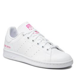 adidas Взуття adidas Stan Smith J GZ8365 Ftwwht/Ftwwht/Shopnk