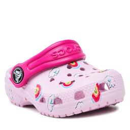 Crocs Шльопанці Crocs Classictoddler 207321 Ballerina Pink