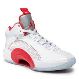 Nike Batai Nike Jordan XXXV CQ4227 100 White/Fire Red/Mettalic Silver