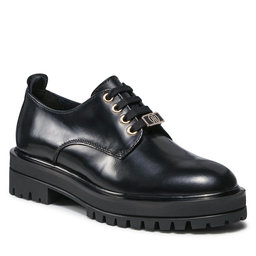Tommy Hilfiger Pusbačiai Tommy Hilfiger Polished Leather Lace Up FW0FW05930 Black BDS