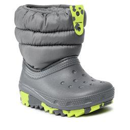 Crocs Sniego batai Crocs Classic Neo Puff Boot K 207275 Slate Grey