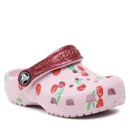 Crocs Šlepetės Crocs Classic Food Print Clog K 207150 Ballerina Pink