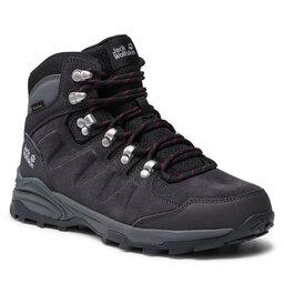 Jack Wolfskin Трекінгові черевики Jack Wolfskin Refugio Texapore Mid W 4050871 Dark Steel/Purple