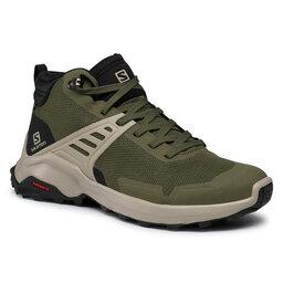 Salomon Turistiniai batai Salomon X Raise Mid Gtx GORE-TEX 410958 26 V0 Olive Night/Black/Vintage Khaki