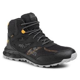 Jack Wolfskin Трекінгові черевики Jack Wolfskin Woodland Texapore Mid K 4042151 D Black/Burly Yellow XT