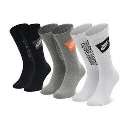 Nike Unisex ilgų kojinių komplektas (3 poros) Nike DA2583 903 Balta