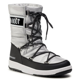 Moon Boot Снігоходи Moon Boot Jr G. Quilted Wp 34051400006 D Silver/Black