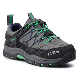 CMP Трекінгові черевики CMP Kids Rigel Low Trekking Shoes Wp 3Q13244 Graffite/Verde Fluo 29UF