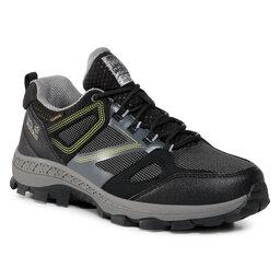 Jack Wolfskin Трекінгові черевики Jack Wolfskin Downhill Texapore Low M 4043851 Black/Lime