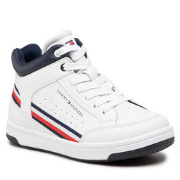 Tommy Hilfiger Laisvalaikio batai Tommy Hilfiger High Top Lace-Up Sneaker T3B4-32051-0621 M White 100