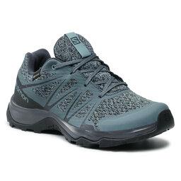 Salomon Трекінгові черевики Salomon Warra Gtx W GORE-TEX 412315 20 M0 Stormy Weather/Stormy Weather/Lead