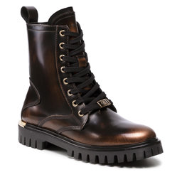 Tommy Hilfiger Aulinukai Tommy Hilfiger Polished Leather Lace Up Boot FW0FW06008 Gold 0LL