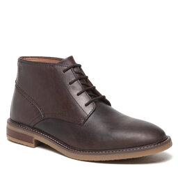 Clarks Auliniai batai Clarks Jaxen Mid 261627247 Brown Leather