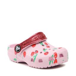 Crocs Шльопанці Crocs Classic Food Print Clog K 207150 Ballerina Pink