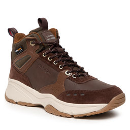 Tommy Hilfiger Laisvalaikio batai Tommy Hilfiger High Sneaker Boot Leather FM0FM03273 Army Green RBN