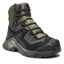 Salomon Трекінгові черевики Salomon Quest Element Gtx GORE-TEX 414571 28 V0 Black/Deep Lichen Green/Olive Night