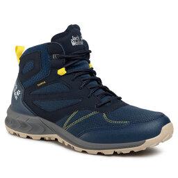 Jack Wolfskin Трекінгові черевики Jack Wolfskin Woodland Texapore Mid M 4039201 Dark Blue/Lime