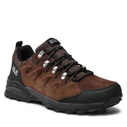Jack Wolfskin Трекінгові черевики Jack Wolfskin Refugio Texapore Low M 4049851 Brown/Phantom