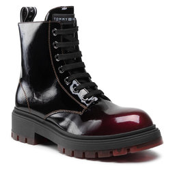 Tommy Hilfiger Ilgaauliai Tommy Hilfiger Lace-Up Bootie T4A5-32017-1244 Bordeaux 301