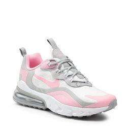 Nike Взуття Nike Air Max 270 React (GS) BQ0103 104 White/Pink/Lt Smoke Grey