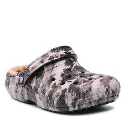 Crocs Шльопанці Crocs Classic Lined Bleach Dye C 207299 Black