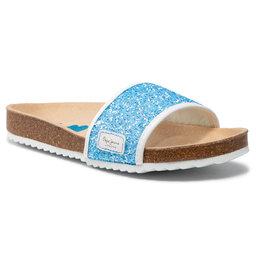 Pepe Jeans Шльопанці Pepe Jeans Bio Glitters PGS90101 Bright Blue 545