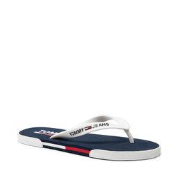 Tommy Jeans Šlepetės per pirštą Tommy Jeans Beach Sandal EM0EM00731 White YBR