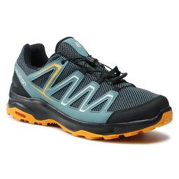 Salomon Трекінгові черевики Salomon Custer Gtx GORE-TEX 412316 38 W0 Ebony/North Atlantic/Autumn Blaze