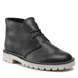 Clarks Auliniai batai Clarks Overdale Mid 261629437 Black Leather