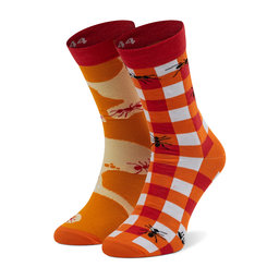 Cup of Sox Високі шкарпетки unisex Cup of Sox Mrowisko Оранжевий