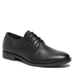 Tommy Hilfiger Pusbačiai Tommy Hilfiger Core Leather Lace Up Shoe FM0FM03760 Black BDS