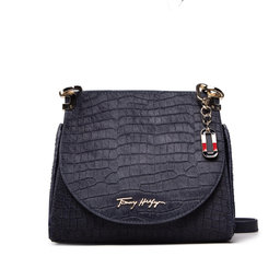 Tommy Hilfiger Rankinės Tommy Hilfiger Luce Leather Flap Crossover Croc AW0AW10489 0G0