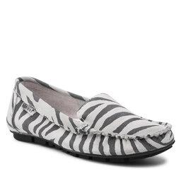 Nessi Mokasinai Nessi 17130 Biały Zebra
