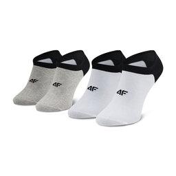 4F Набір 2 пар низьких чоловічих шкарпеток 4F H4L21 SOM001 Biały/Szary Melanż