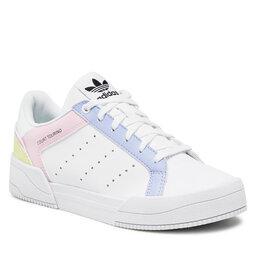 adidas Взуття adidas Court Tourino J H00769 Ftwwht/CVioton/Clpink