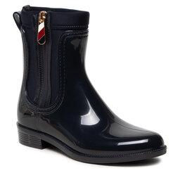 Tommy Hilfiger Guminiai batai Tommy Hilfiger Corporate Zipper Rainboot FW0FW06000 Desert Sky DW5