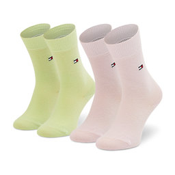 Tommy Hilfiger Vaikiškų ilgų kojinių komplektas (2 poros) Tommy Hilfiger 391334 Green/Pink 101