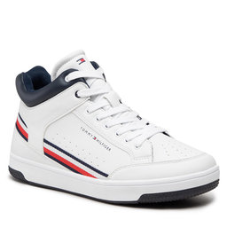 Tommy Hilfiger Laisvalaikio batai Tommy Hilfiger High Top Lace-Up T3B4-32051-0621 S White 100