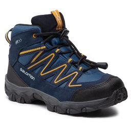 Salomon Трекінгові черевики Salomon Skookie Mid Cswp J 411295 17 V0 Sargasso Sea/Navy Blazer/Arrowwood