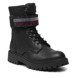 Tommy Hilfiger Žygio batai Tommy Hilfiger Lace-Up Bootie T3A5-31196-1222 M Black 999