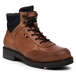 Tommy Hilfiger Ilgaauliai Tommy Hilfiger Warm Classic Sneakers Cut FM0FM03818 Natural Cognac GTU