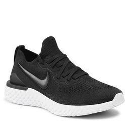 Nike Batai Nike Epic React Flyknit 2 BQ8928 002 Black/Black/White