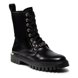 Tommy Hilfiger Žygio batai Tommy Hilfiger Polished Leather Lace Up Boot FW0FW06008 Black BDS