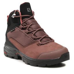 Salomon Трекінгові черевики Salomon Outward Gtx W GORE-TEX 412883 20 V0 Peppercorn/Black/Brick Dust