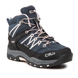 CMP Трекінгові черевики CMP Kids Rigel Mid Trekking Shoe Wp 3Q12944 Asphalt/Rose