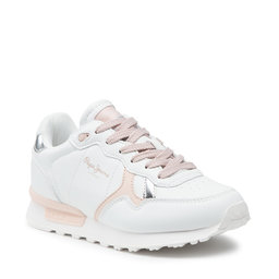 Pepe Jeans Снікерcи Pepe Jeans Britt College Girls PGS30503 White 800