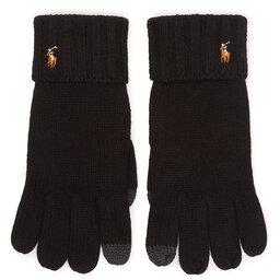 Polo Ralph Lauren Чоловічі рукавички Polo Ralph Lauren Signature Merino 449777692001 Wool Black