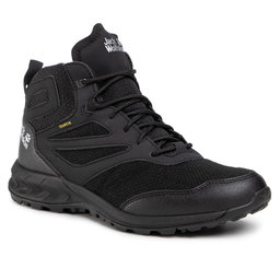 Jack Wolfskin Трекінгові черевики Jack Wolfskin Woodland Texapore Mid M 4039201 Black